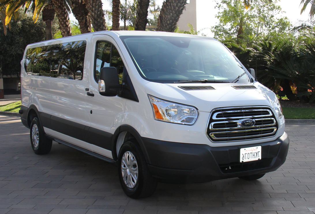 12 15 Ford Transit Low Roof 8 Passenger Van Rental Orange County